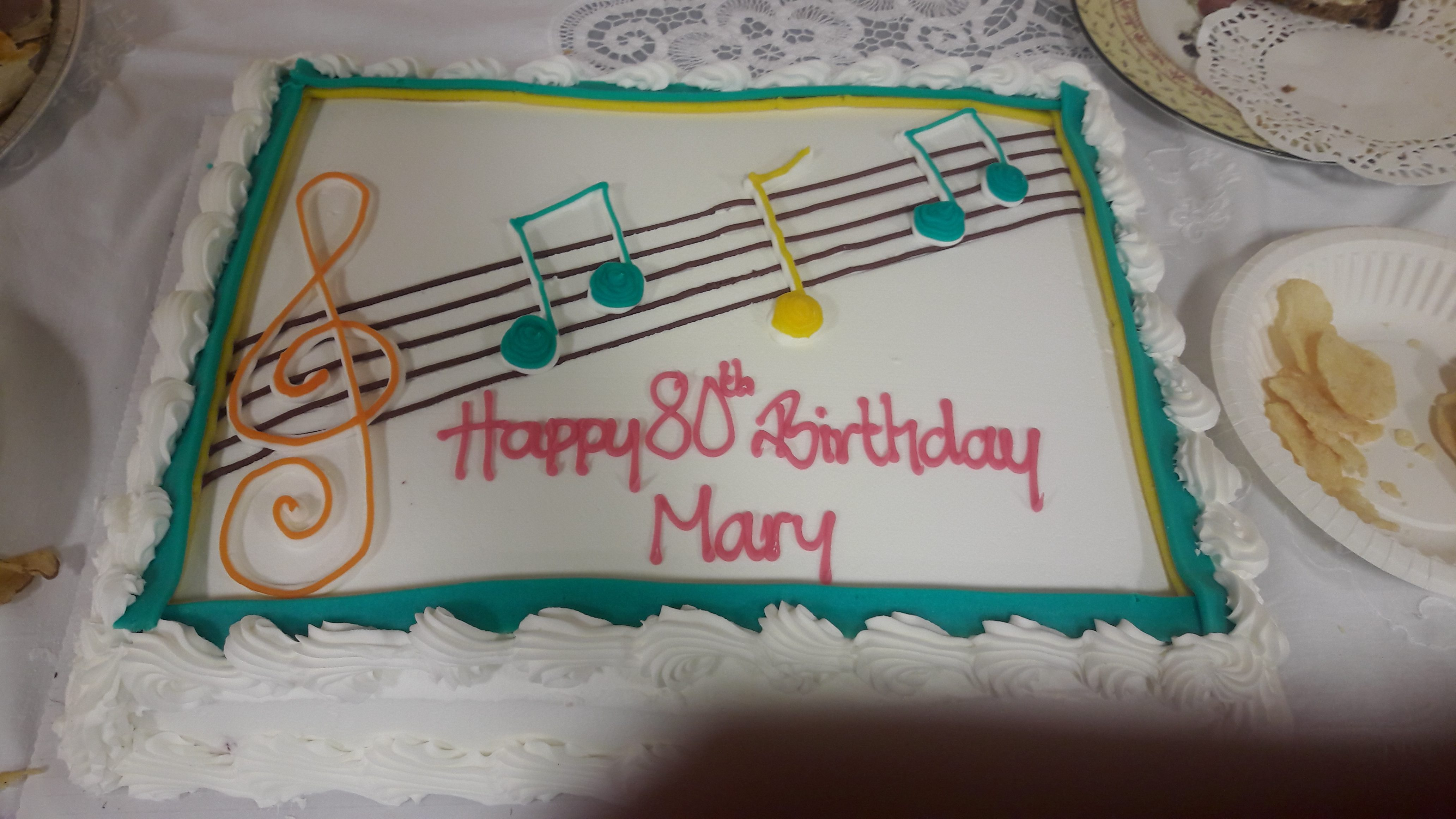 Congratulations To Mary Cooper On Her 80th Birthday Celebrations
